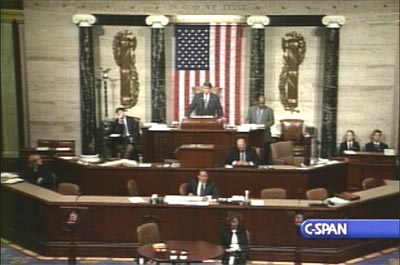 C-SPAN view of the U.S. House of Representatives (Photo: Courtesy C-SPAN)